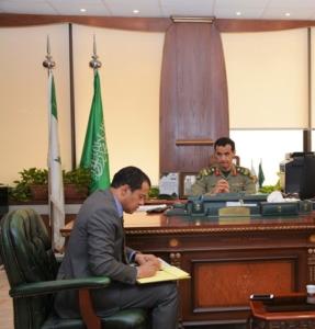 مدير جوازات الرياض يبحث مع قنصل مصر أوضاع الجالية وتوعيتهم بالأنظمة (1)
