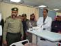 مدير جوازات الشمالية يزور النقيب العنزي بمستشفى رفحاء