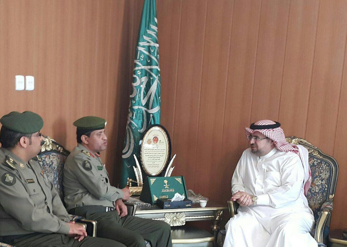 مدير جوازات عسير العميد سعد بن ابراهيم الخالدي يتفقد ادارة جوازات محافظة محايل (1)