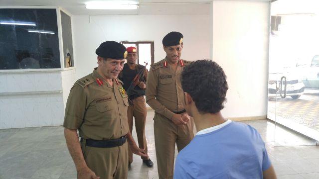 مدير شرطة #جازان لرجال المرور خدمة المراجعين هدفكم (2)