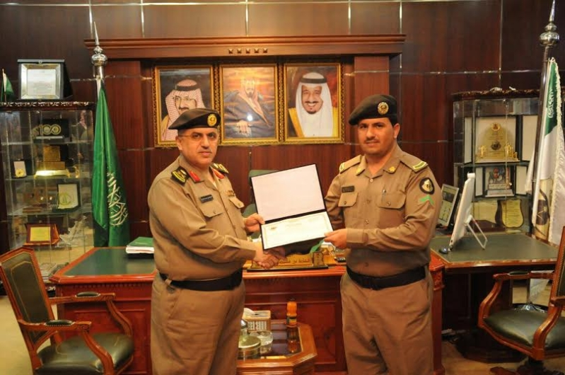 مدير شرطة منطقة الجوف يكرم عددا من ضباط وأفراد شرطة10