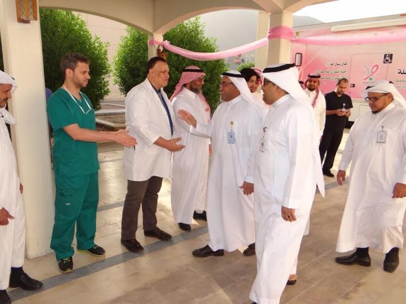 مدير صحة المدينة يرعى الفعاليات الختامية للكشف المبكر عن سرطان الثدي1