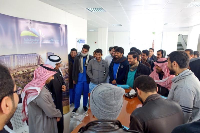 مدينة الامير محمد الطبية تبحث اليات التدريب والابتعاث مع جامعة الجوف (6)