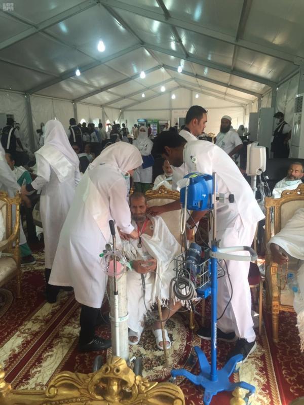 مدينة الملك عبد الله الطبية تمكن مرضاها من الحجاج من الوقوف بعرفات