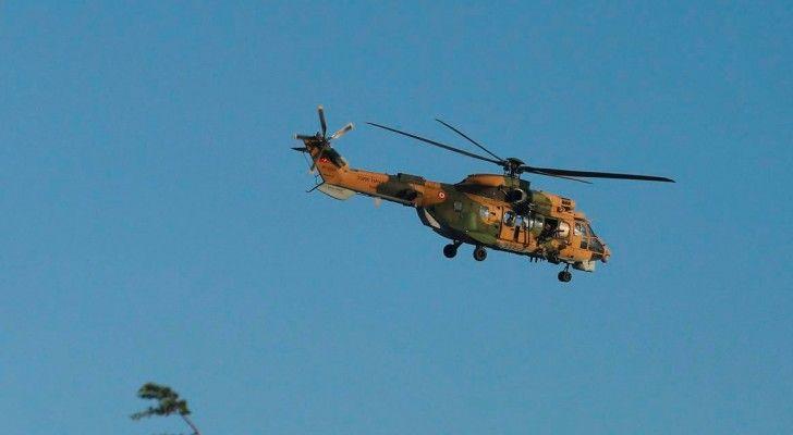 مروحية عسكرية تابعة للانقلابيين تهبط في اليونان طائرة حربية عسكرية