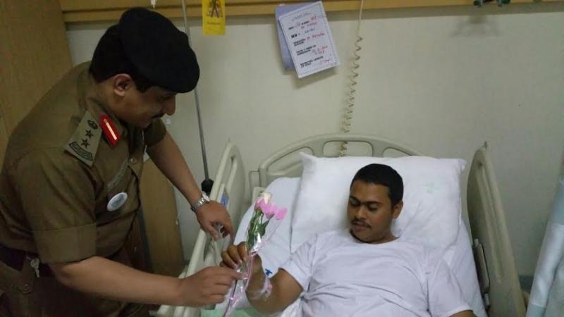 مرور بيشة يزور مرضى مستشفى الملك عبدالله1