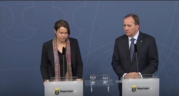 مسؤولة سويدية تبكي لحظة إعلان التوقف عن استقبال اللاجئين