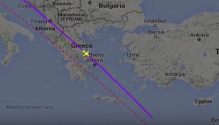 مسار الطائرة المفقودة