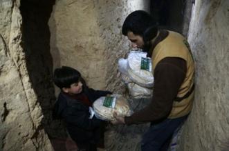 بالصور .. مساعدات داخل الأنفاق من مركز الملك سلمان لمنكوبي الغوطة الشرقية - المواطن