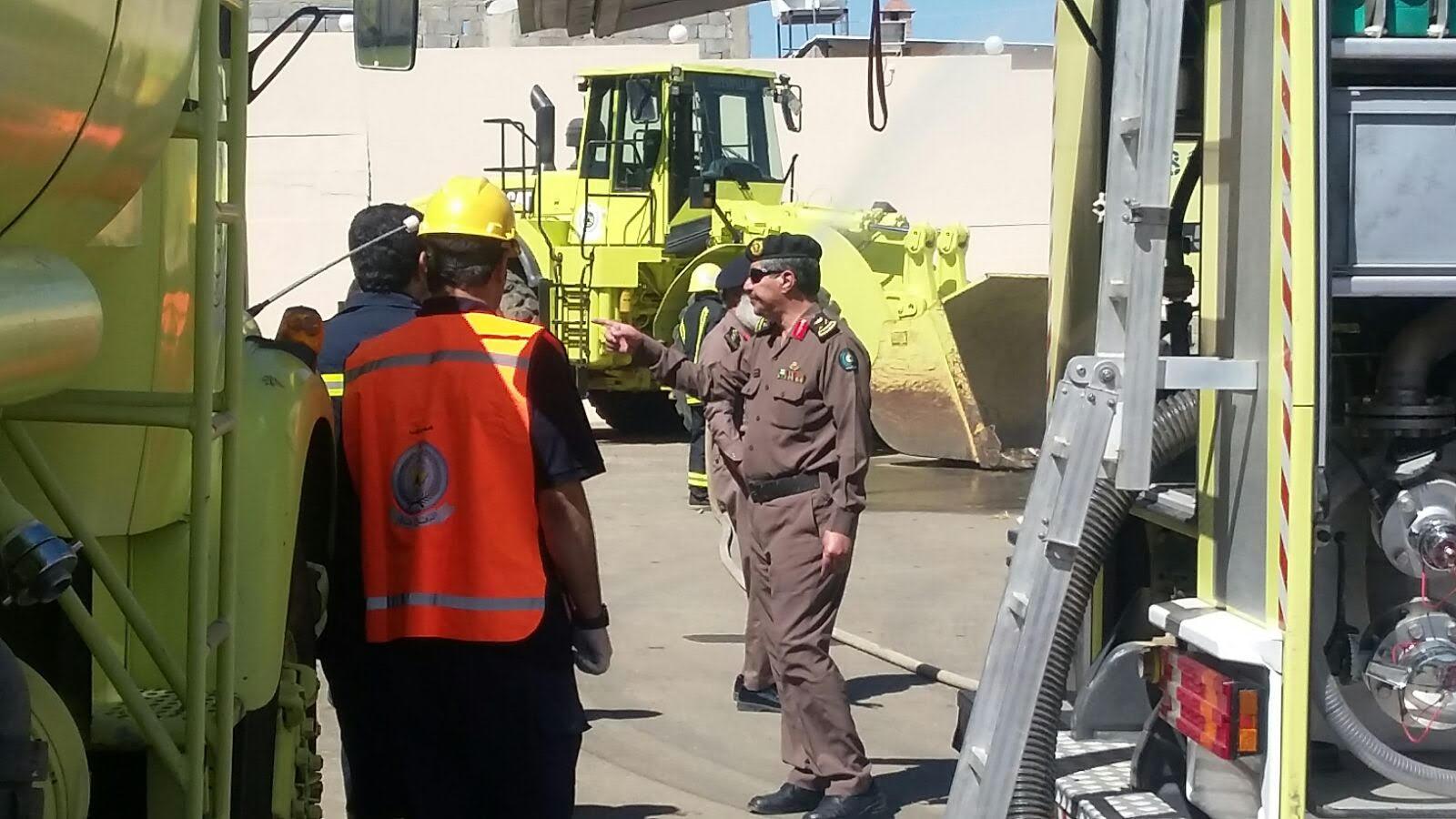 مساعد الدفاع المدني بالباحه اللواء الغامدي يقف ميدانيا على جاهزية إدارة الدفاع المدني بالباحه 1
