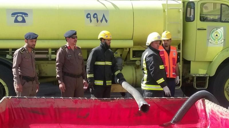 مساعد الدفاع المدني بالباحه اللواء الغامدي يقف ميدانيا على جاهزية إدارة الدفاع المدني بالباحه 2