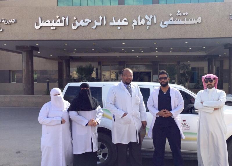 مستشفى الامام عبدالرحمن الفيصل حقق  نجاحاً باهراً في إنهاء معاناة مريض القدم السكري