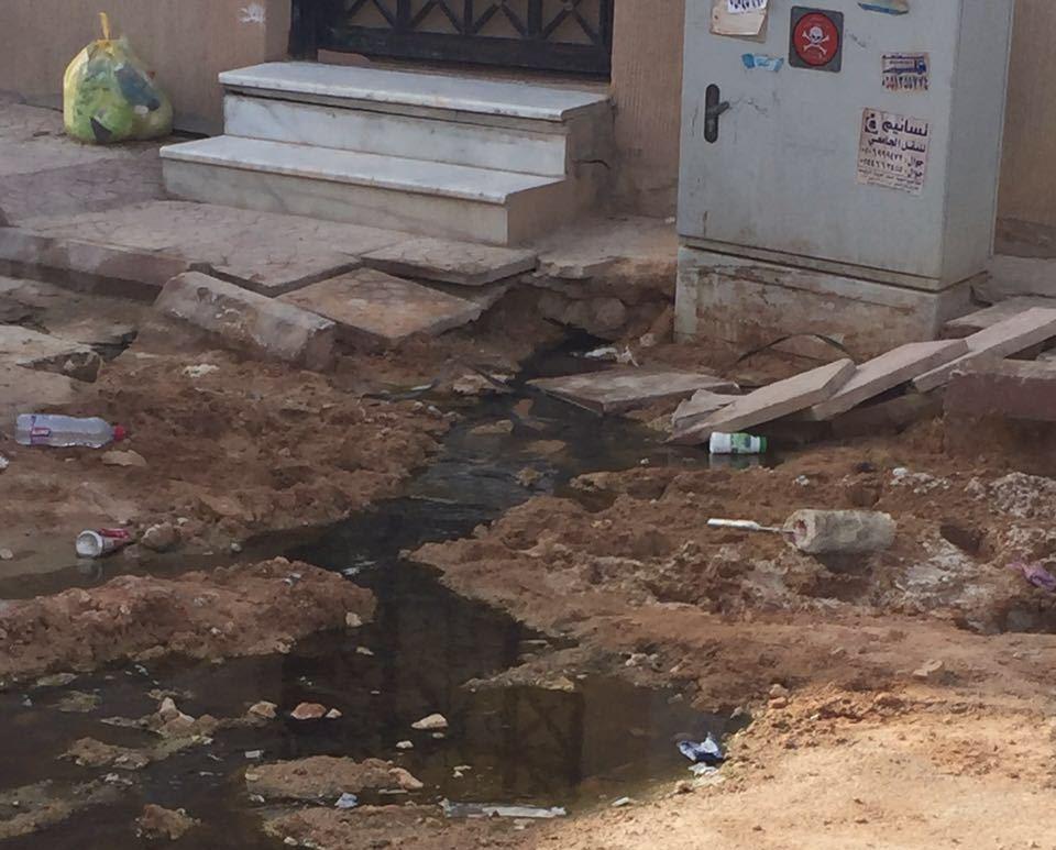 مستنقعات مياه الصرف الصحي تداهم حي دار البيضلء بالرياض (1)