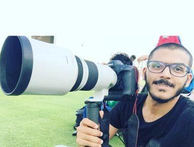 مصور المركز الإعلامي بنادي الأهلي زياد الحارثي
