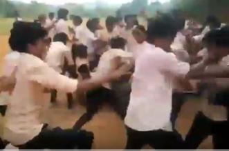 بالفيديو.. اشتباك بالأيدي بين عشرات الطلاب والسبب!! - المواطن