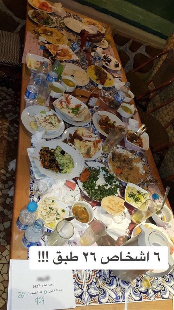 مطعم يوثق إسراف الزبائن (2)