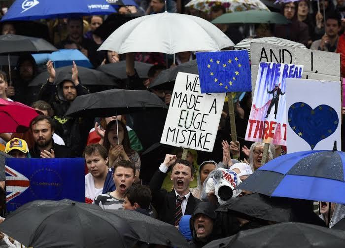 مظاهرات في لند بسبب خروط بريطانيا من الاتحاد الاروربي (160725431) 