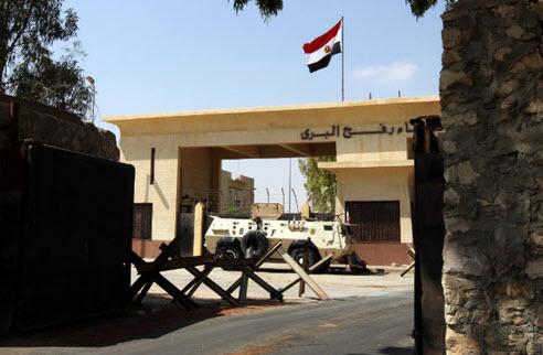 معبر رفح الواقع بين قطاع غزة ومصر