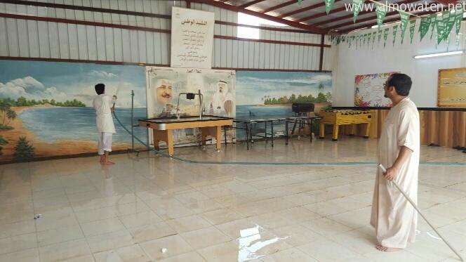 معلمون بعسير ينظفون مدارسهم (3)