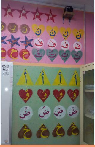 معلم يحوّل فصلاً مدرسيًّا إلى لوحة فنية (2)