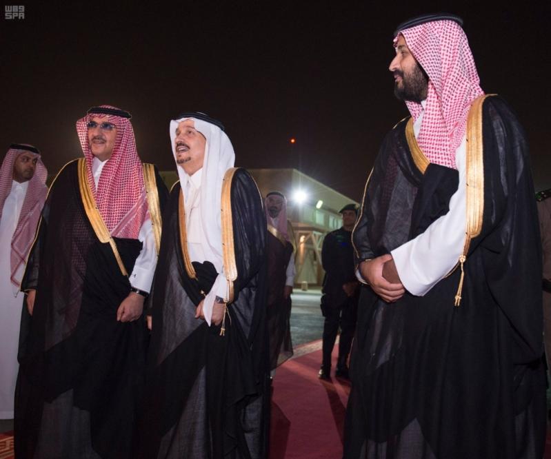 مغادرة الملك الى قطر 2