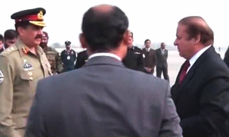 مغادرة رئيس الوزراء الباكستاني وقائد الجيش إلى السعودية (1)