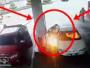 مغامر سيارة محترقة