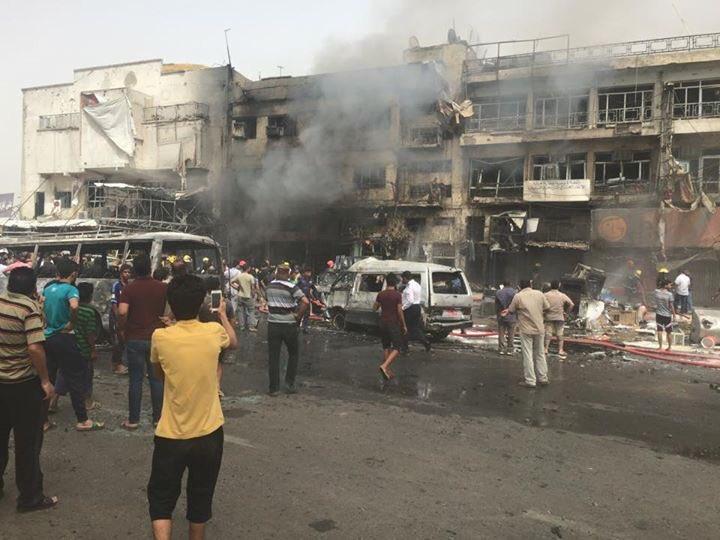 مقتل وإصابة 92 في تفجيرين إرهابيين في بغداد (1)