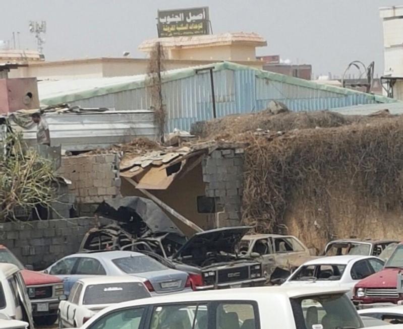 مقذوفات حوثية بخميس مشيط