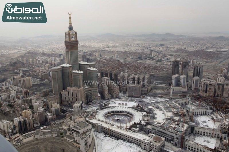 مكة - المسجد الحرام - المشاعر من الجو