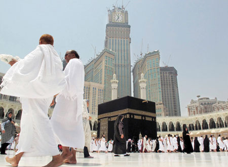 مكة عمره معتمرين كعبه