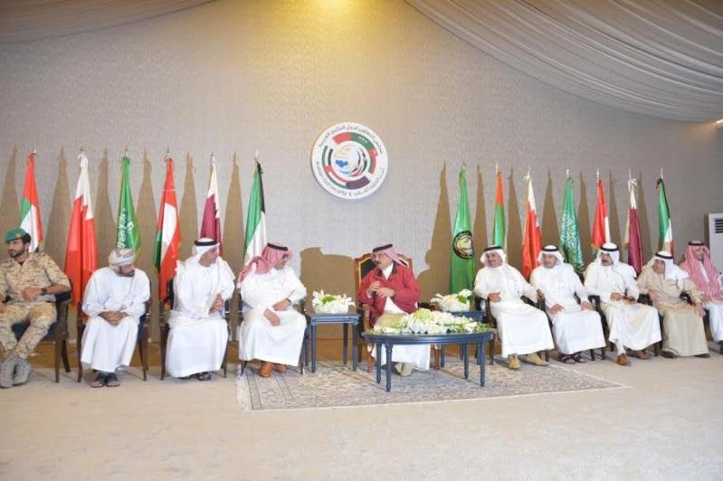 ملك البحرين ووزراء داخلية الخليج