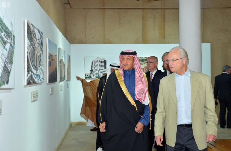 ملك السويد يزور قصر المصمك التاريخي 1