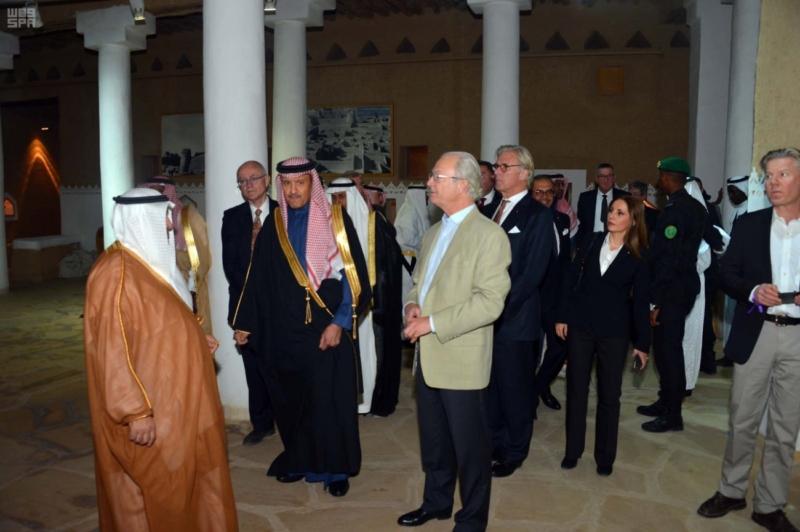 ملك السويد يزور قصر المصمك التاريخي 10