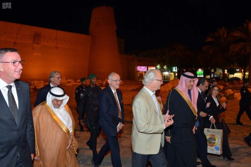 ملك السويد يزور قصر المصمك التاريخي 13