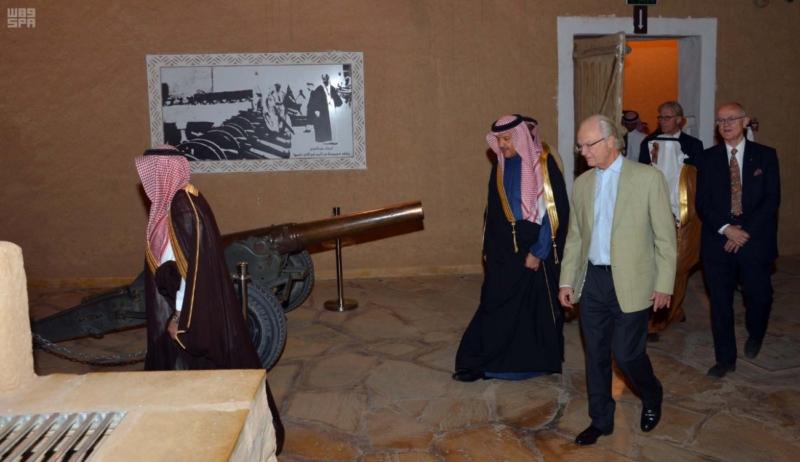 ملك السويد يزور قصر المصمك التاريخي 3
