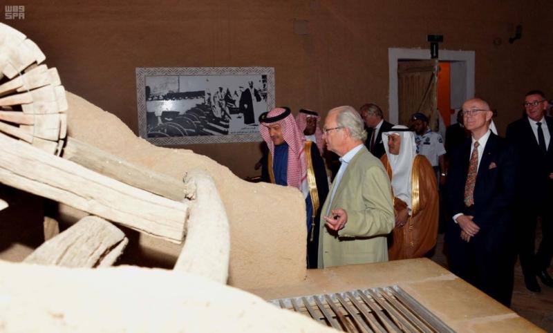 ملك السويد يزور قصر المصمك التاريخي 4
