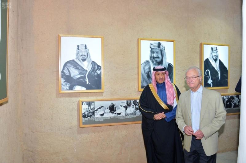 ملك السويد يزور قصر المصمك التاريخي 5