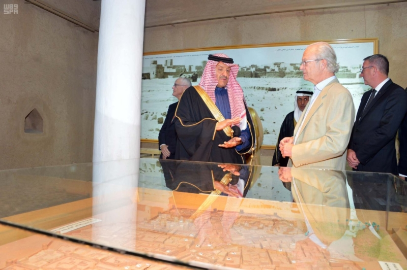 ملك السويد يزور قصر المصمك التاريخي 8