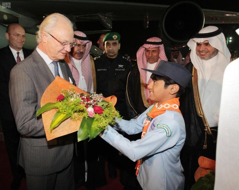 ملك السويد يصل الرياض 3