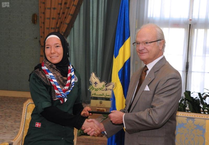 ملك السويد يكرم في الرياض أبطال رسل السلام على مستوى العالم (9)