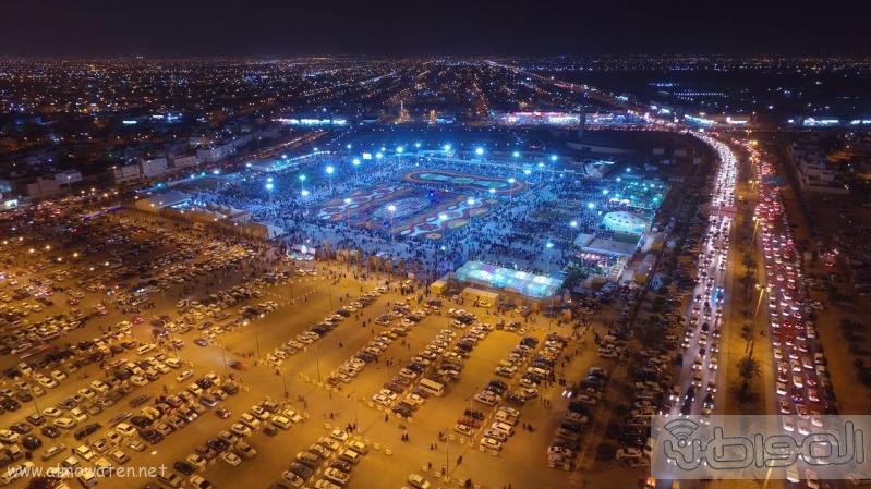مهرجان ربيع الرياض كما بدا مساء اليوم الجمعه