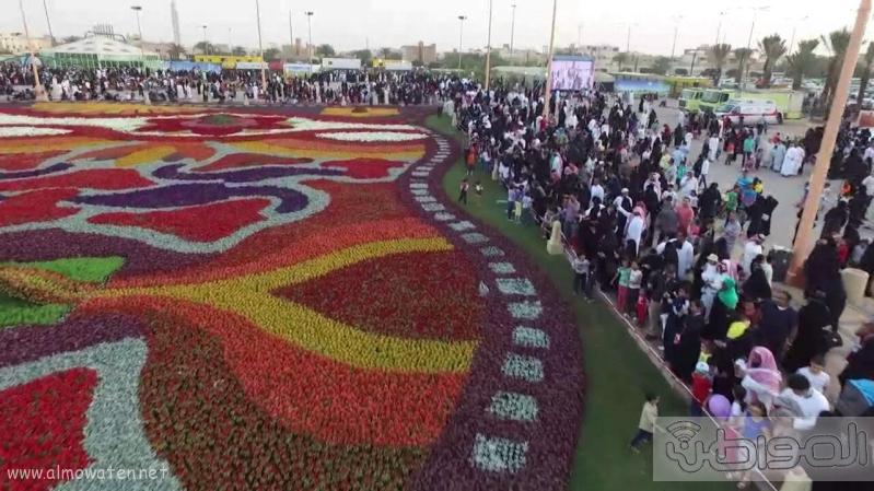 مهرجان ربيع الرياض كما بدا مساء اليوم الجمعه3
