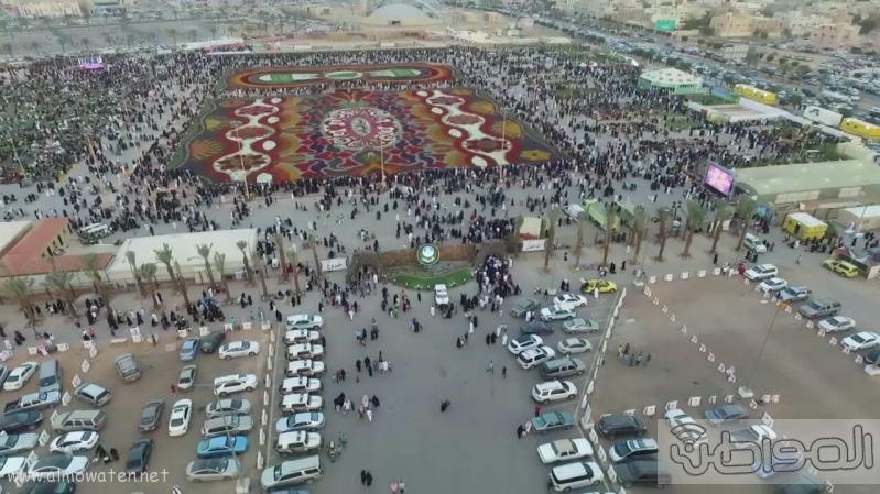 مهرجان ربيع الرياض كما بدا مساء اليوم الجمعه4
