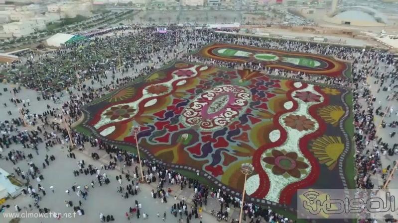 مهرجان ربيع الرياض كما بدا مساء اليوم الجمعه6