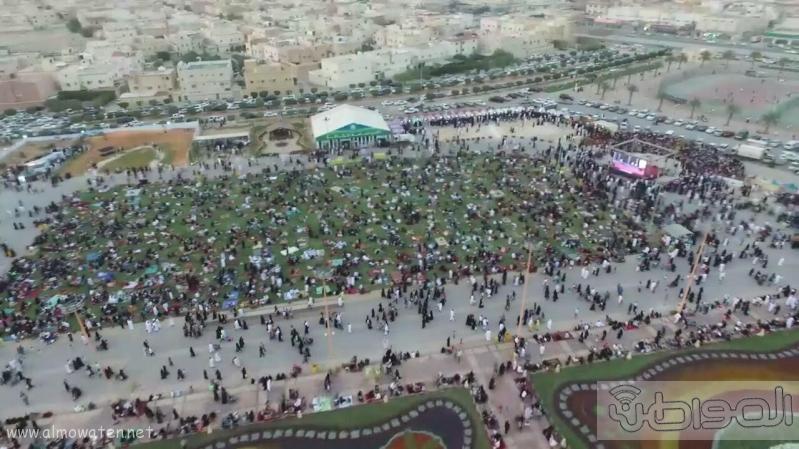 مهرجان ربيع الرياض كما بدا مساء اليوم الجمعه7