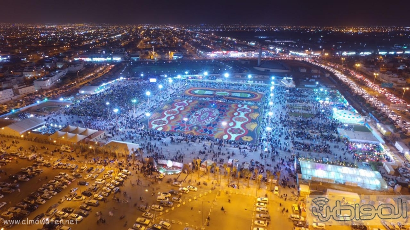 مهرجان ربيع الرياض كما بدا مساء اليوم الجمعه8
