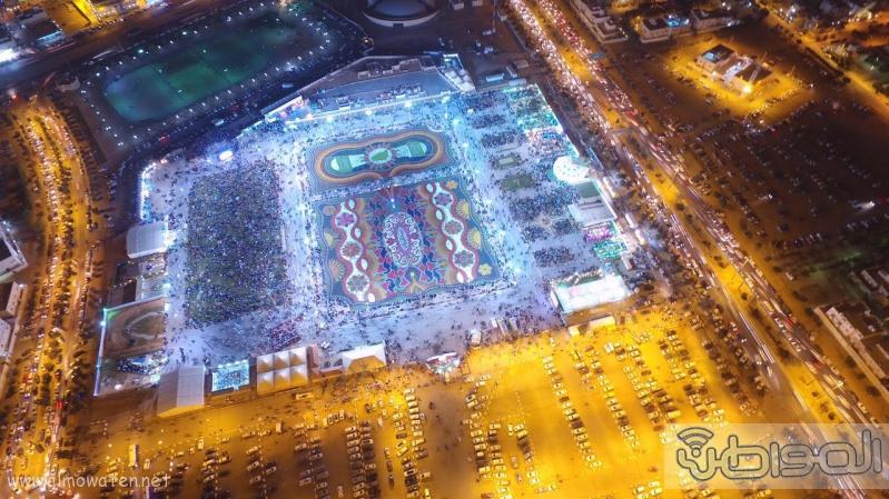 مهرجان ربيع الرياض كما بدا مساء اليوم الجمعه9