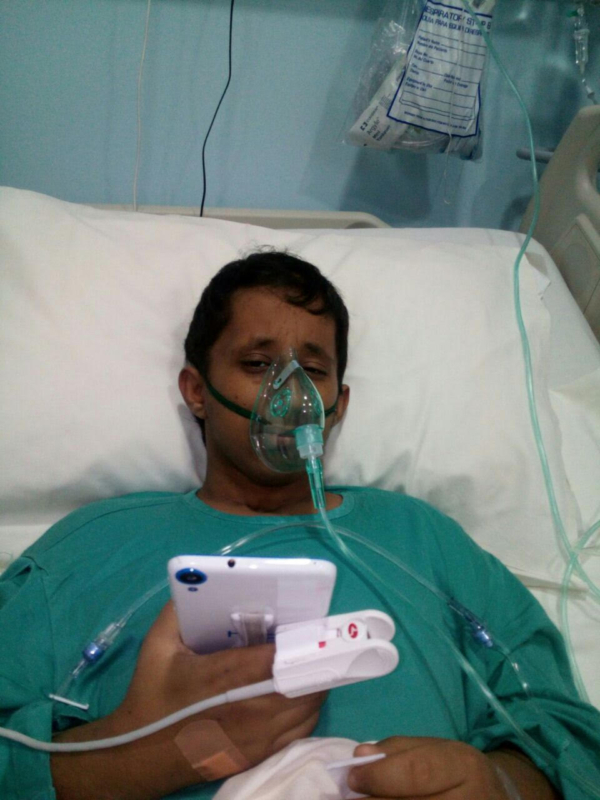 مواطن يناشد علاج ابنه بعد خضوعه لجلسات الكيماوي لسنة بتشخيص خاطئ في مستشفى الحرس (1)