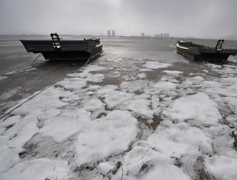 موجة طقس تاريخية تجمد الصين وكوريا الجنوبية (2)